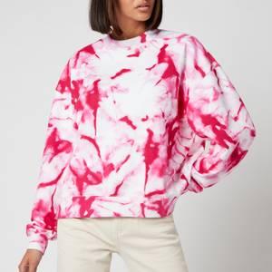 Calvin Klein Jeans Women's Marble AOP Crew Neck - Cerise Marble AOP
