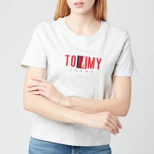 Tommy Jeans Women's TJW Regular Timeless Box T-Shirt - Silver Grey HTR