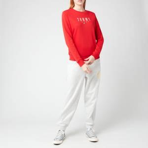 Tommy Jeans Women's TJW Regular Essential Logo Top - Deep Crimson