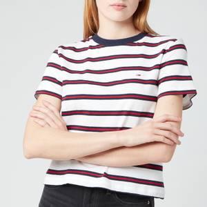 Tommy Jeans Women's TJW Regular Contrast Baby T-Shirt - White