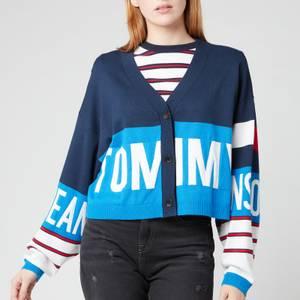 Tommy Jeans Women's TJW Branded Cardigan - Gulf Coast Blue/Multi