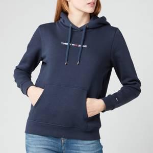 Tommy Jeans Women's TJW Linear Logo Hoodie - Twilight Navy
