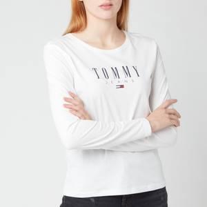 Tommy Jeans Women's TJW Slim Ls Lala T-Shirt - White