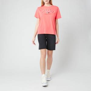 Tommy Jeans Women's TJW Relaxed College Logo T-Shirt - Diva Pink