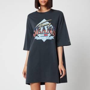 Tommy Jeans Women's TJW Vintage Graphic T-Shirt Dress - Black