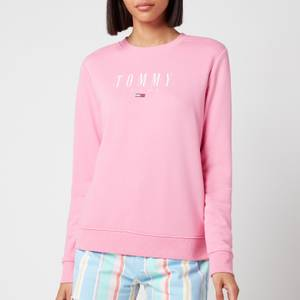 Tommy Jeans Women's TJW Regular Essential Logo Sweatshirt - Pink Daisy