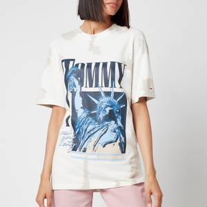 Tommy Jeans Women's TJW Relaxed Liberty T-Shirt - White