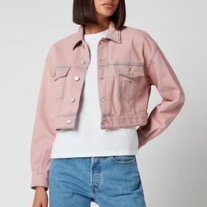 Tommy Jeans Women's Cropped Trucker Jacket PDC - Pink Daisy