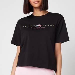 Tommy Jeans Women's TJW Bxy Crop Modern Logo T-Shirt - Black