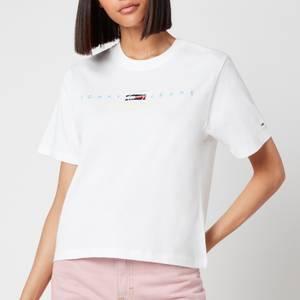 Tommy Jeans Women's TJW Bxy Crop Modern Logo T-Shirt - White
