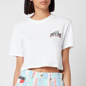 Tommy Jeans Women's TJW Super Crop Logo T-Shirt - White