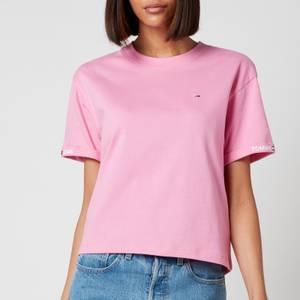 Tommy Jeans Women's TJW Crop Branded T-Shirt - Pink Daisy