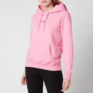 Tommy Jeans Women's TJW Linear Logo Hoodie - Pink Daisy