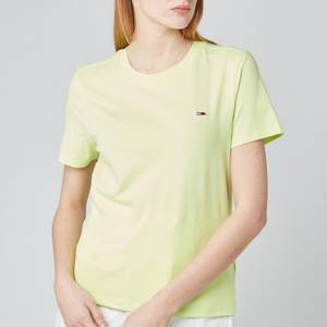 Tommy Jeans Women's TJW Regular Jersey C Neck T-Shirt - Faded Lime