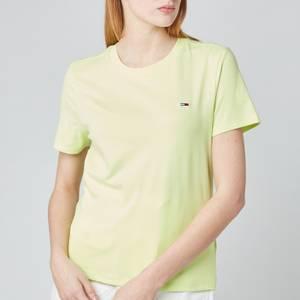 Tommy Jeans Women's TJW Regular Jersey C Neck T-Shirt - Faded Lime