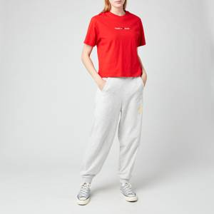 Tommy Jeans Women's TJW Linear Logo T-Shirt - Deep Crimson