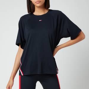 Tommy Sport Women's Relaxed Crew Neck Tape T-Shirt - Desert Sky
