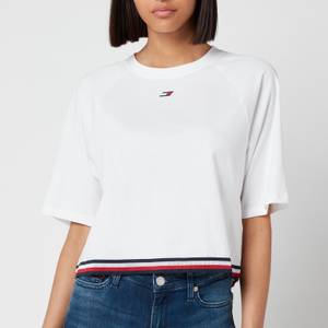 Tommy Sport Women's Relaxed Crew Neck T-Shirt - Th Optic White