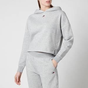 Tommy Sport Women's Regular LBR Hoodie - Light Grey Heather