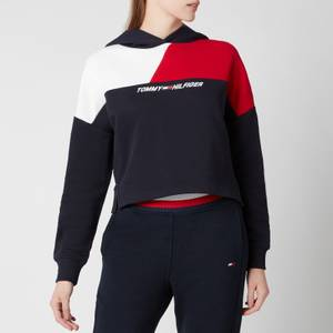 Tommy Sport Women's Relaxed Colour Block Hoodie - Desert Sky