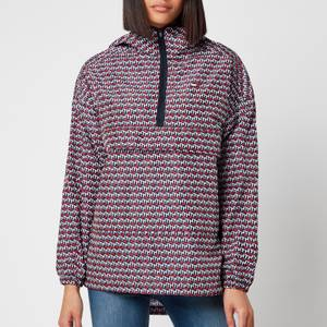 Tommy Sport Women's Pullover AOP PLY Jacket - Th Cube All Over Red