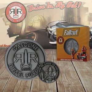 DUST! Fallout Limited Edition Red Rocket Collector's Medallion and Coin Set - Zavvi Exclusive