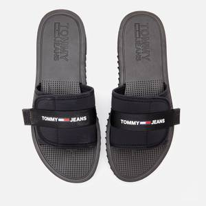 Tommy Jeans Men's Slip On Tech Sandals - Black