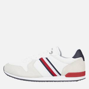 Tommy Hilfiger Men's Iconic Material Mix Running Style Trainers - Red/White/Blue