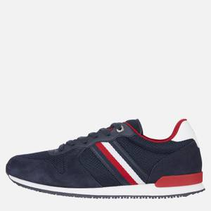 Tommy Hilfiger Men's Iconic Material Mix Running Style Trainers - Desert Sky