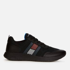 Tommy Hilfiger Men's Lightweight Flag Mix Running Style Trainers - Black