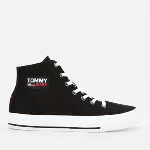 Tommy Jeans Women's Canvas Hi-Top Trainers - Black