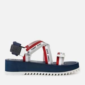 Tommy Jeans Women's Webbing Strappy Sandals - Twilight Navy
