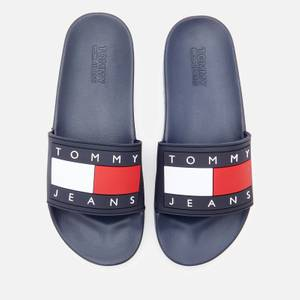 Tommy Jeans Women's Flag Pool Slide Sandals - Twilight Navy