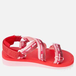 Tommy Jeans Women's Webbing Strappy Sandals - Bubble Pink