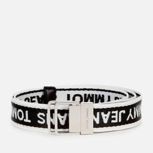 Tommy Jeans Women's Mini Logo Tape Belt - Black