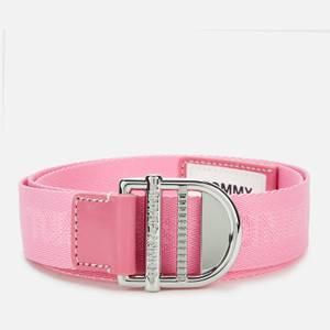 Tommy Jeans Women's Essential Webbing Belt 3.5 - Diva Pink
