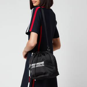 Tommy Jeans Women's Mini Logo Tape Bucket Bag - Black