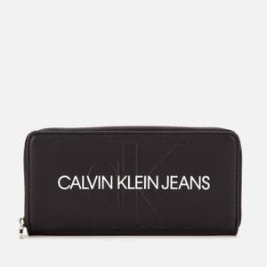 Calvin Klein Jeans Women's Zip Around Wallet - Black