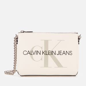 Calvin Klein Jeans Women's Camera Pouch with Chain - Ivory