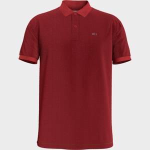 Tommy Jeans Men's Classic Slim Fit Stretch Polo Shirt - Deep Crimson