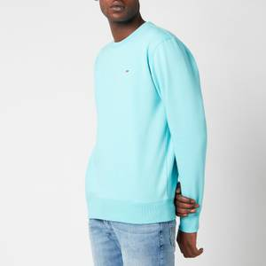 Tommy Jeans Men's Regular Fit Fleece Crewneck Sweatshirt - Chlorine Blue