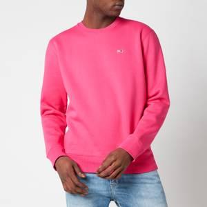 Tommy Jeans Men's Regular Fit Fleece Crewneck Sweatshirt - Bright Cerise Pink