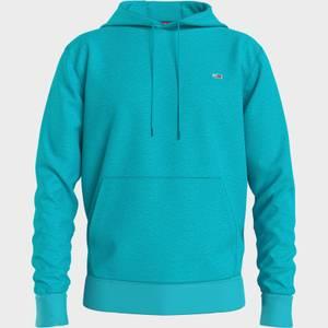 Tommy Jeans Men's Regular Fit Fleece Pullover Hoodie - Chlorine Blue
