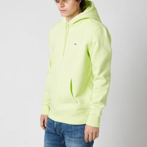 Tommy Jeans Men's Regular Fit Fleece Pullover Hoodie - Faded Lime