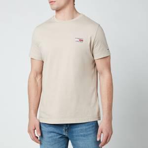 Tommy Jeans Men's Chest Logo T-Shirt - Soft Beige