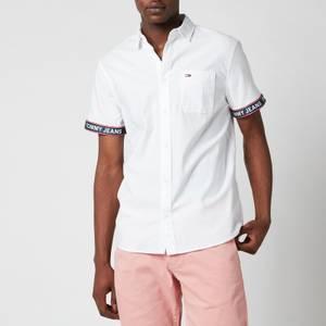 Tommy Jeans Men's Tape Short Sleeve Shirt - White
