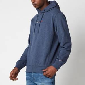 Tommy Jeans Men's Straight Logo Hoodie - Twilight Navy HTR