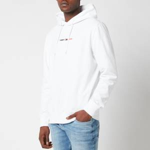Tommy Jeans Men's Straight Logo Hoodie - White HTR