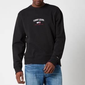 Tommy Jeans Men's Timeless Logo Crewneck Sweatshirt - Black