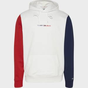 Tommy Jeans Men's Half And Half Colourblock Hoodie - White/Multi